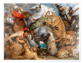 Premium poster  The Tiger Hunt - Peter Paul Rubens