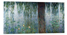 Acrylic print  Waterlilies: Morning with Weeping Willows (detail) - Claude Monet