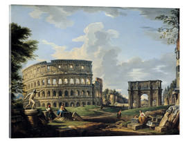 Acrylic print  The Coliseum and the Arch of Constantine - Giovanni Paolo Pannini