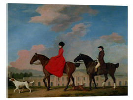 Acrylic print  John and Sophia Musters riding at Colwick Hall - George Stubbs
