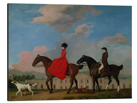 Aluminium print  John and Sophia Musters riding at Colwick Hall - George Stubbs