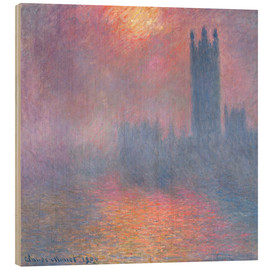 Wood print  The Houses of Parliament - Claude Monet