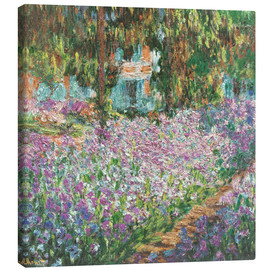 Canvas print  The Artist's Garden at Giverny - Claude Monet
