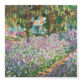 Premium poster  The Artist's Garden at Giverny - Claude Monet