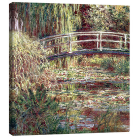 Canvas print  Waterlily Pond: Pink Harmony - Claude Monet