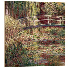 Wood print  Waterlily Pond: Pink Harmony - Claude Monet