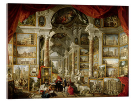 Acrylic print  Gallery with pictures of Modern Rome - Giovanni Paolo Pannini