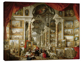 Canvas print  Gallery with pictures of Modern Rome - Giovanni Paolo Pannini