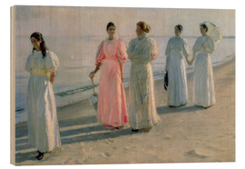 Wood print  Ladies on the beach - Michael Peter Ancher