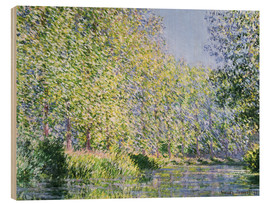 Wood print  Bend in the Epte River near Giverny - Claude Monet