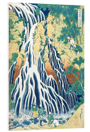 Foam board print  Kirifuri Fall on Kurokami Mountain - Katsushika Hokusai