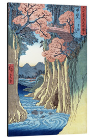 Aluminium print  The Monkey Bridge in the Kai Province - Utagawa Hiroshige