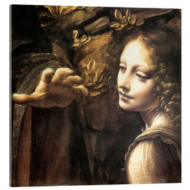 Acrylic print  Madonna of the rocks (detail) - Leonardo da Vinci