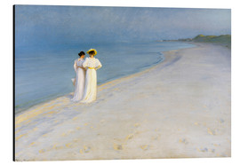 Aluminium print  Summer Evening on the Skagen Southern Beach with Anna Ancher and Marie Kroyer - Peder Severin Krøyer