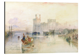 Aluminium print  View of Carnarvon Castle - Joseph Mallord William Turner