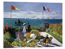 Acrylic print  Garden at Sainte-Adresse - Claude Monet