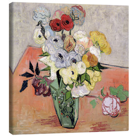 Canvas print  Roses and Anemones - Vincent van Gogh
