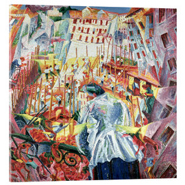 Acrylic print  The Street Enters the House - Umberto Boccioni