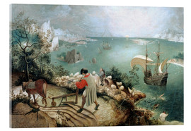 Acrylic print  Landscape with the fall of Icarus - Pieter Brueghel d.Ä.