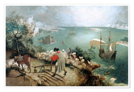 Premium poster  Landscape with the fall of Icarus - Pieter Brueghel d.Ä.