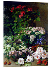 Acrylic print  Spring Flowers - Claude Monet