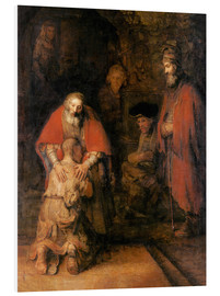 Foam board print  Return of the Prodigal Son - Rembrandt van Rijn