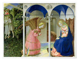 Premium poster  The Annunciation - Fra Angelico