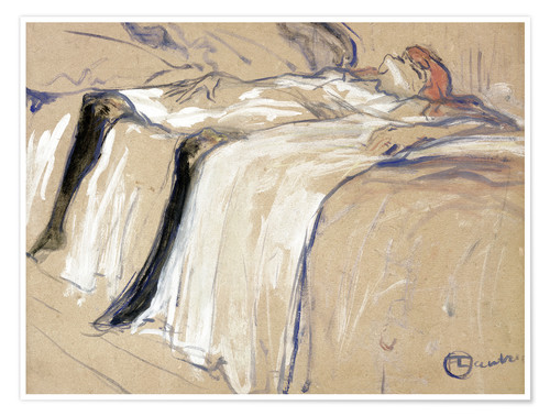 Premium poster Woman lying on her Back - Lassitude
