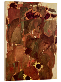 Wood print  Sunflowers II - Egon Schiele