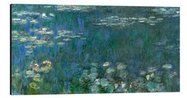 Aluminium print  Waterlilies, Green Reflections - Claude Monet