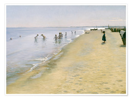 Premium poster  Summer day at the south beach of Skagen - Peder Severin Krøyer