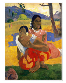 Premium poster  When Will You Marry? - Paul Gauguin