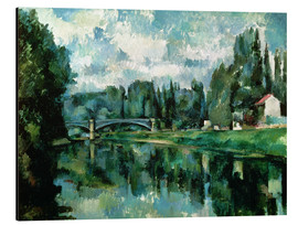 Aluminium print  The Banks of the Marne at Creteil - Paul Cézanne