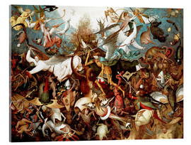 Acrylic print  The fall of the rebel angels - Pieter Brueghel d.Ä.