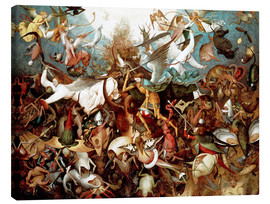 Canvas print  The fall of the rebel angels - Pieter Brueghel d.Ä.