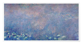 Premium poster Waterlilies: Two Weeping Willows (detail)