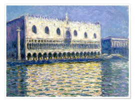 Premium poster  The Ducal Palace - Claude Monet