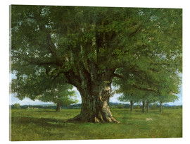 Acrylic print  The Oak of Flagey - Gustave Courbet
