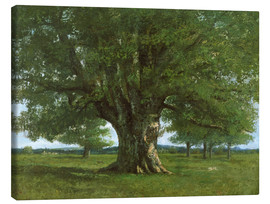 Canvas print  The Oak of Flagey - Gustave Courbet