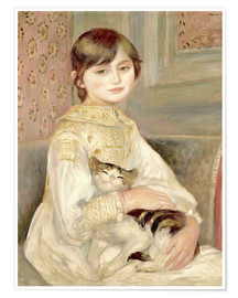 Premium poster  Julie Manet with Cat - Pierre-Auguste Renoir