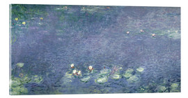 Acrylic print  Waterlilies: Morning - Claude Monet