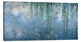 Canvas print  Waterlilies: Morning with Weeping Willows - Claude Monet