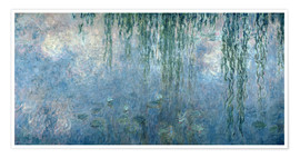 Premium poster Waterlilies: Morning with Weeping Willows