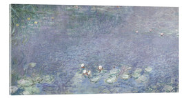 Acrylic print  Waterlilies, Morning 2 - Claude Monet