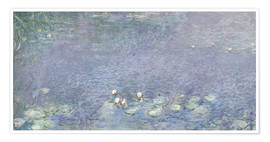 Premium poster  Waterlilies, Morning 2 - Claude Monet