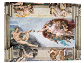 Acrylic print  Sistine Chapel: The Creation of Adam - Michelangelo