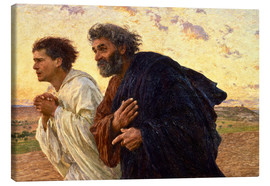 Canvas print  The disciples Peter and John - Eugene Burnand