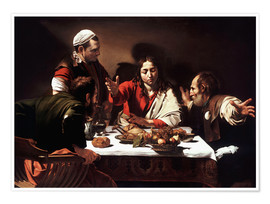 Premium poster  The Supper at Emmaus - Michelangelo Merisi (Caravaggio)
