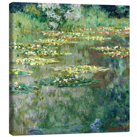 Canvas print  The waterlily pond - Claude Monet
