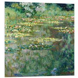 Foam board print  The waterlily pond - Claude Monet